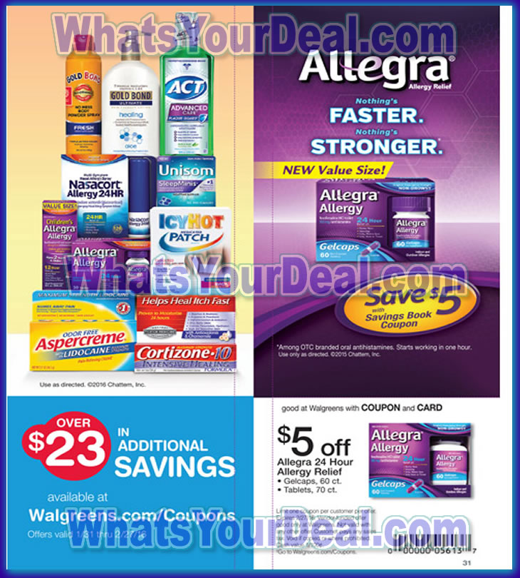 Walgreens Monthly Booklet February 2016